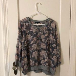 flowy full-sleeve floral top